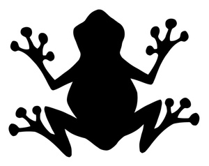 Toad clipart silhouette #12