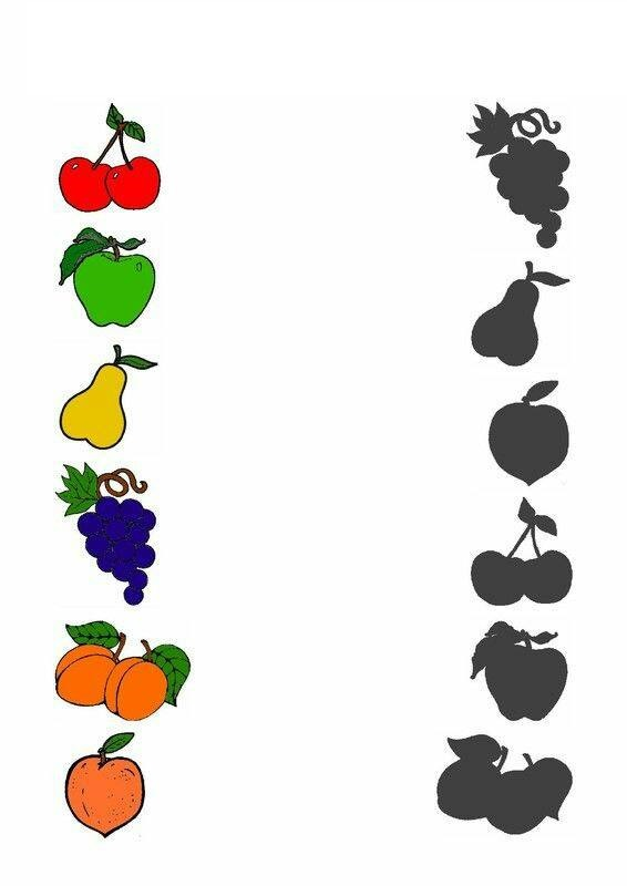 Shadow clipart fruit - Pencil and in color shadow clipart fruit ...