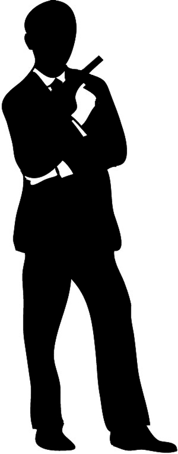 Suit clipart man shadow Free silhouette People Man Clip