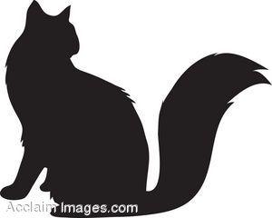 Black Cat clipart black kitten More Art Cat Silhouette Manualidades