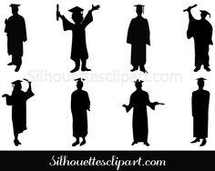 Graduation clipart shadow #1