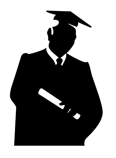 Shadow clipart graduation #2