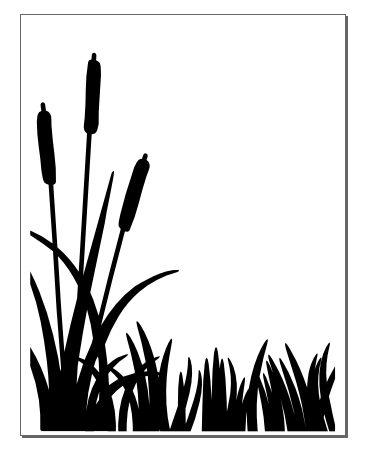 Shaow clipart grass Cattails 25+ Flower silhouette on