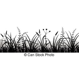 Shaow clipart grass Meadow silhouette grass Meadow of
