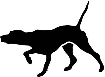 Shadows clipart hunting dog Nose silhouette dog Hunting decal