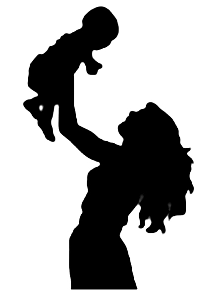 Life clipart silhouette Find Baby Clipart Mother Free
