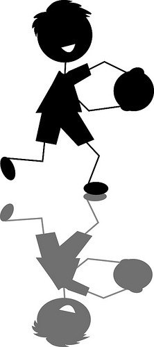 Shaow clipart kid shadow Tagged Boy Playing Little Art