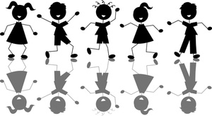 Shaow clipart kid shadow Collection silhouettes Clipart Clipart Child