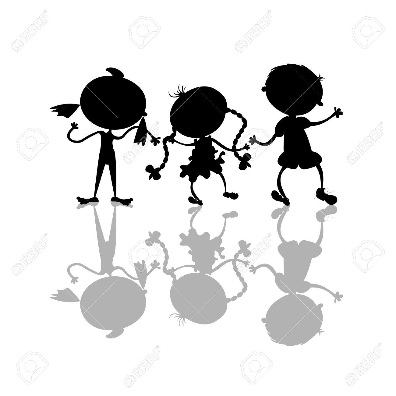 Shaow clipart kid shadow Shadow Kids Clipart Black kids