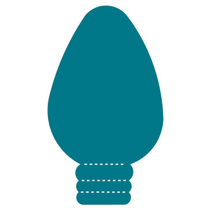 Shaow clipart light bulb Bulbs bulb Christmas light on