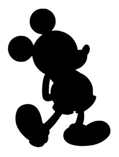 Shadow clipart mickey mouse #1