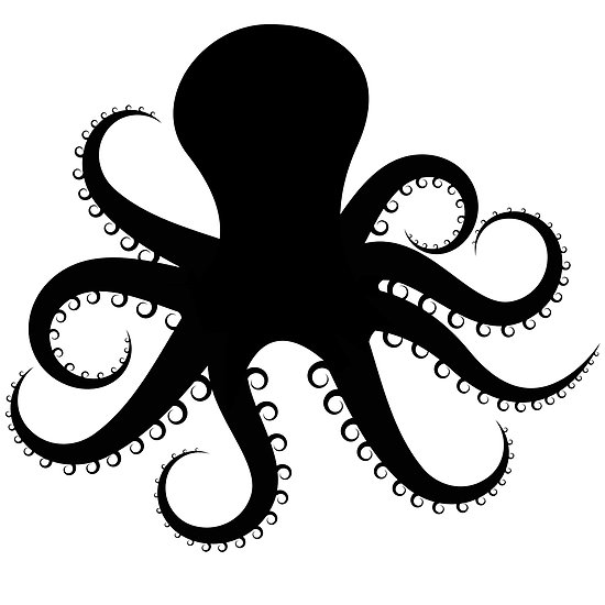 Simple clipart octopus #5
