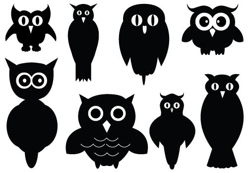 Owlet clipart silhouette Silhouette Silhouettes Baby clipart art