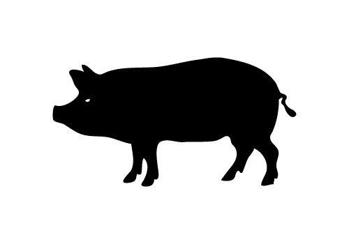 Shaow clipart pig Silhouettes Pinterest ideas Art Pinterest