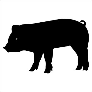 Shadow clipart pig #13