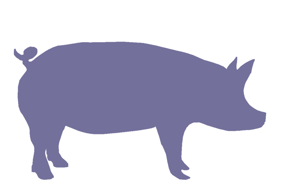 Shaow clipart pig Clip Art Silhouette Free library