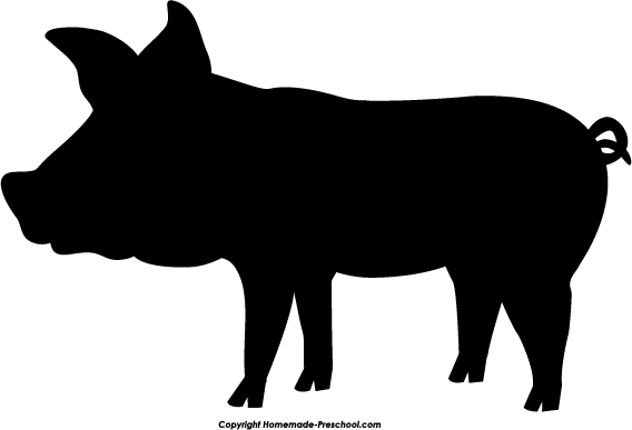 Shadow clipart pig #1