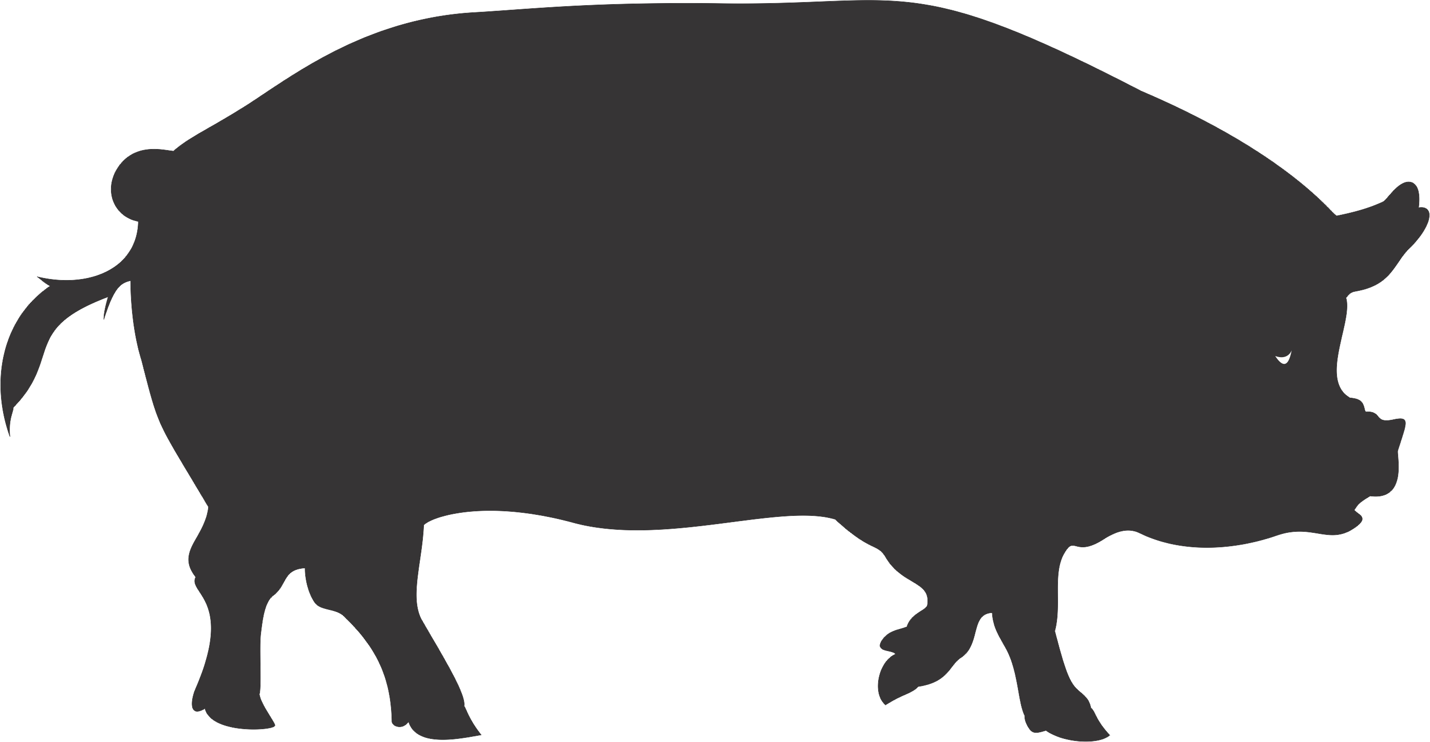 Shadow clipart pig #15