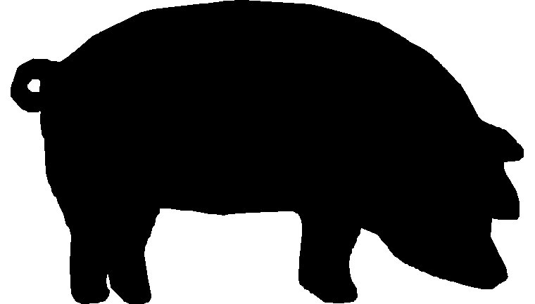 Shadow clipart pig #14
