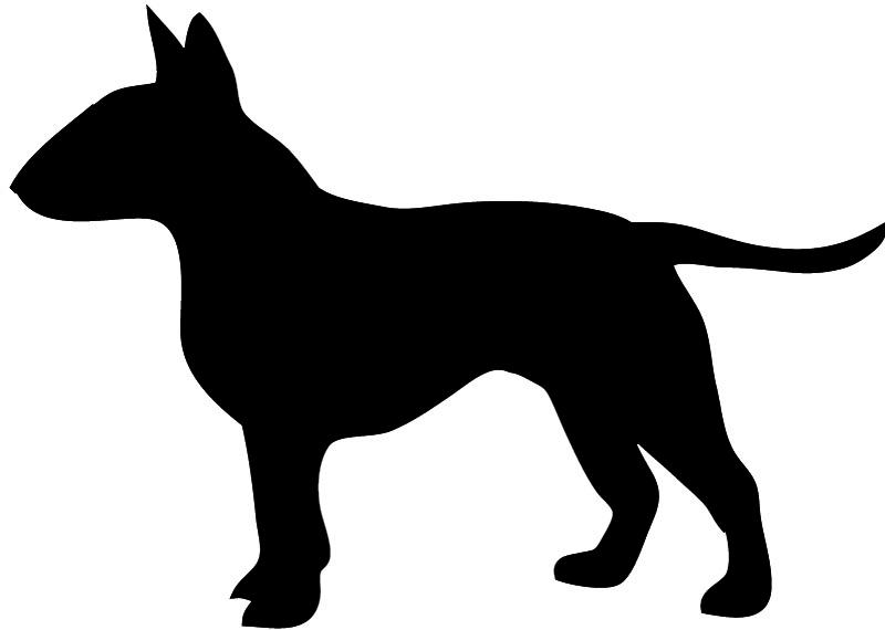 Pitbull clipart silhouette Bull Dog Silhouette terrier Mastiff