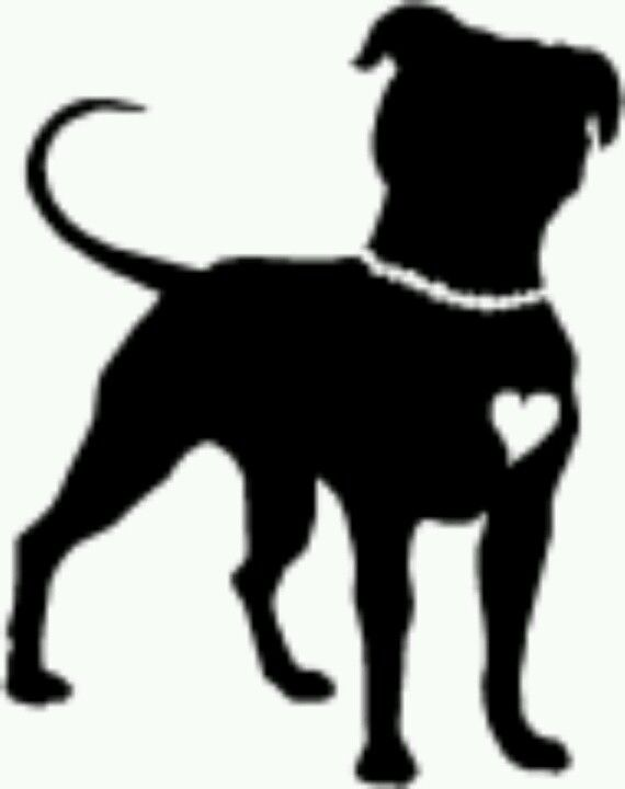 Pitbull clipart silhouette Clip Bull Cliparts Art Bull