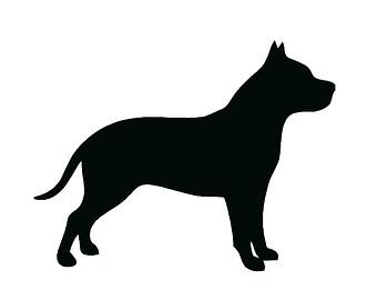 Pitbull clipart silhouette Clip Bull Dog Art Pit