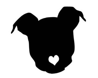 Shaow clipart pitbull Pitbull Pitbull Decal Decal Bully