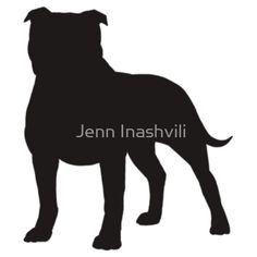 Pitbull clipart silhouette Silhouette Clipart Free Terrier silhouette