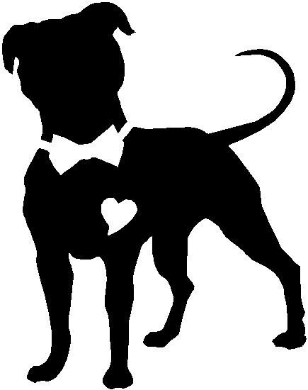 Shaow clipart pitbull 59 of about car silhouette