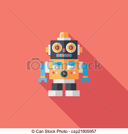 Shadow clipart robot #10