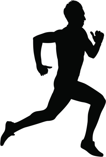 Shaow clipart runner Abstract project vector marathon vector