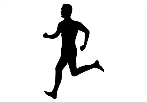 Shaow clipart runner Silhouette collection Runner  clipart