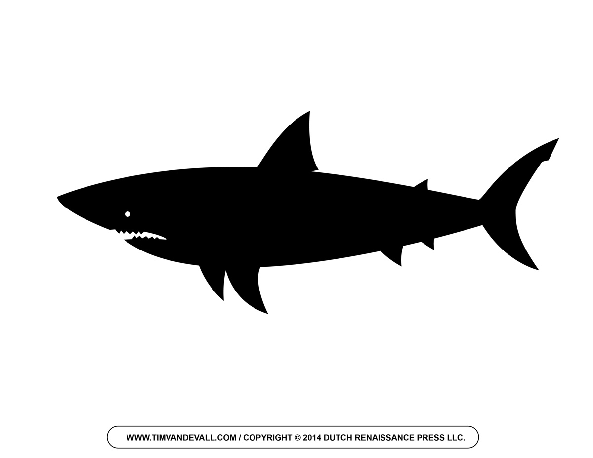 Fins clipart shark head Free and Silhouette Cartoon Shark