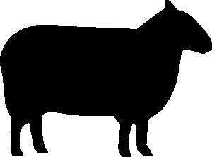 Sheep clipart shadow #2