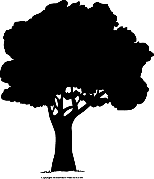 Shaow clipart silhouette Tree Silhouette Art  Download
