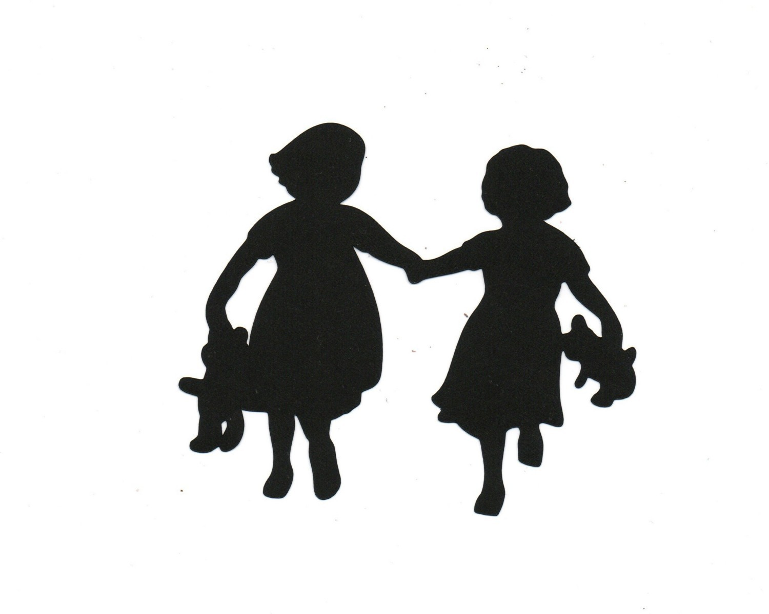Shadows clipart sister Love Handpainted Valentine Ornament