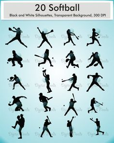 Shadow clipart softball #15