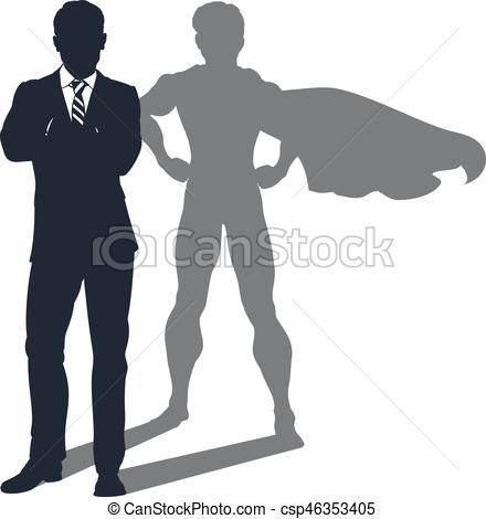 Shadows clipart superhero Of Superhero Concept Shadow Superhero