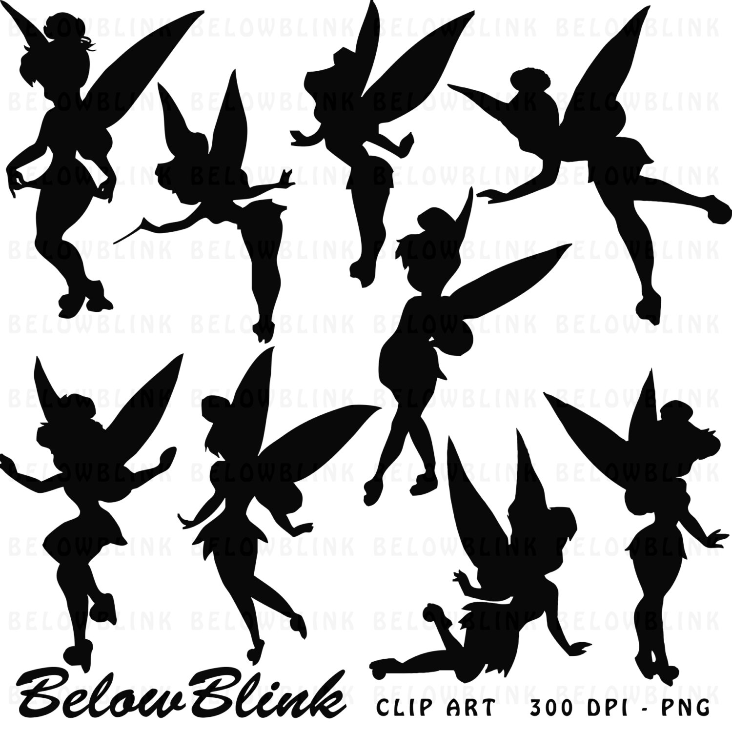 Shadow clipart tinkerbell Silhouette Fun tinkerbell Commercial More