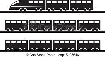 Shaow clipart train Csp15105646 of Vector EPS tracks