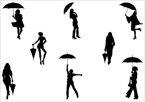 Shadow clipart umbrella #7