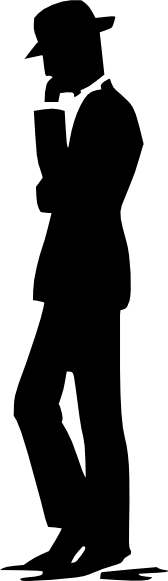 Suit clipart man shadow Phone as: image Cell Clip