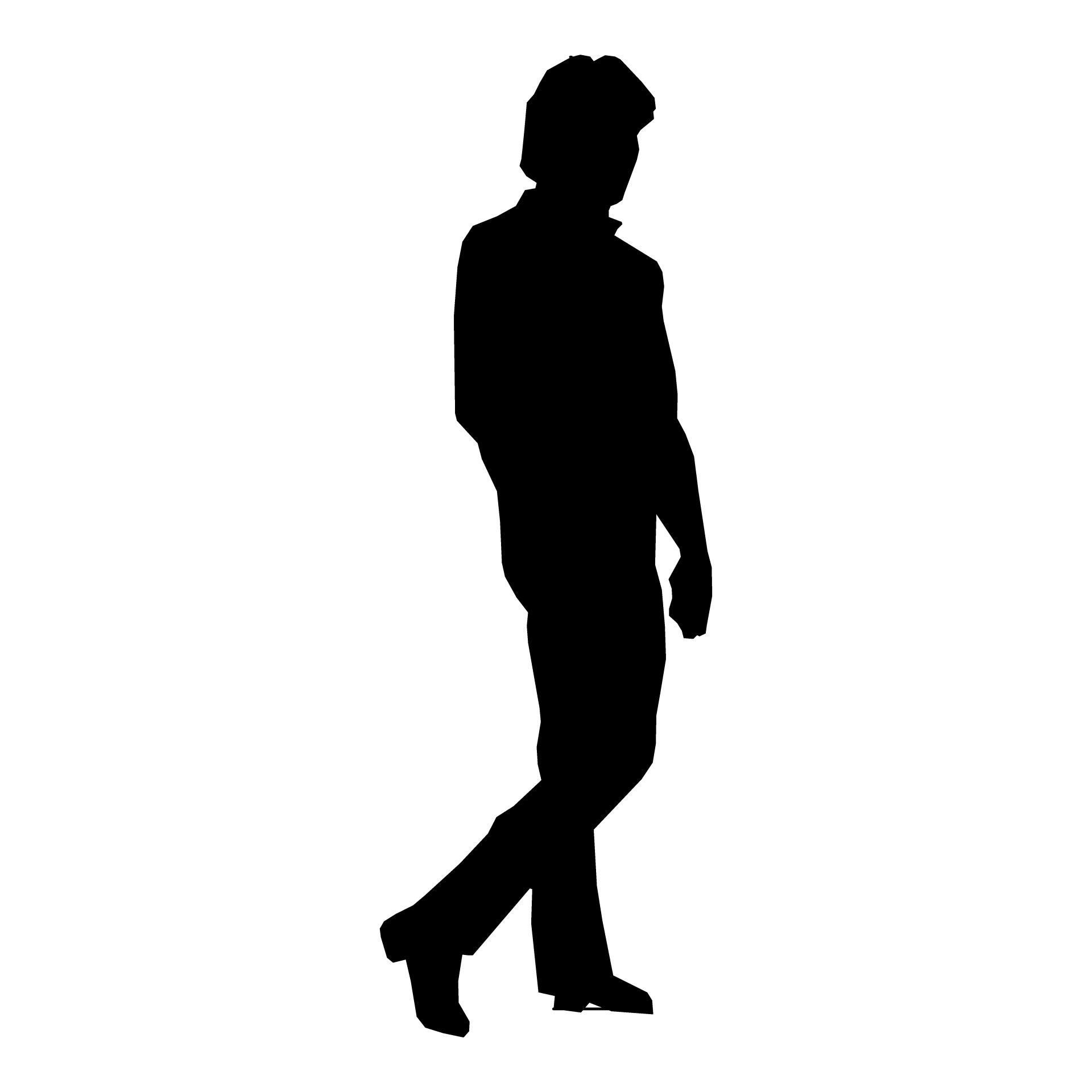 Suit clipart man shadow  Silhouette Walking More Man
