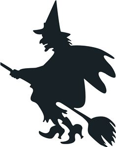 Witch clipart funny halloween Pinterest best silhouettes silhouette 150