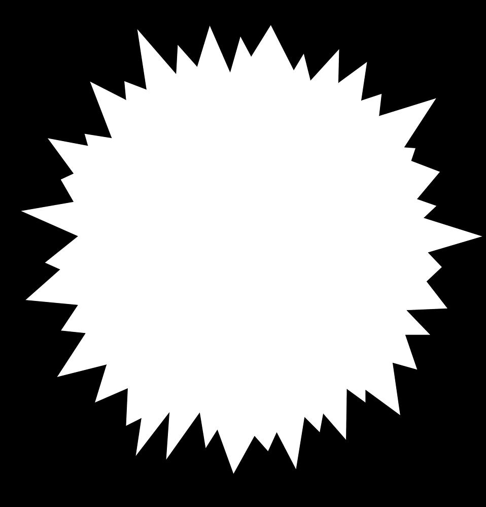 Shapes clipart burst #10