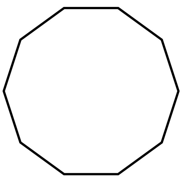 Shapes clipart dodecagon #8