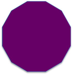 Shapes clipart dodecagon #12