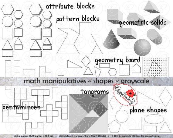 Shapes clipart math manipulative #10