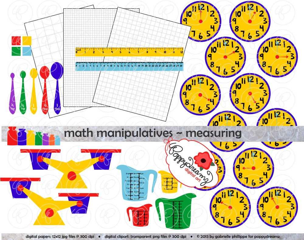 Shapes clipart math manipulative #12