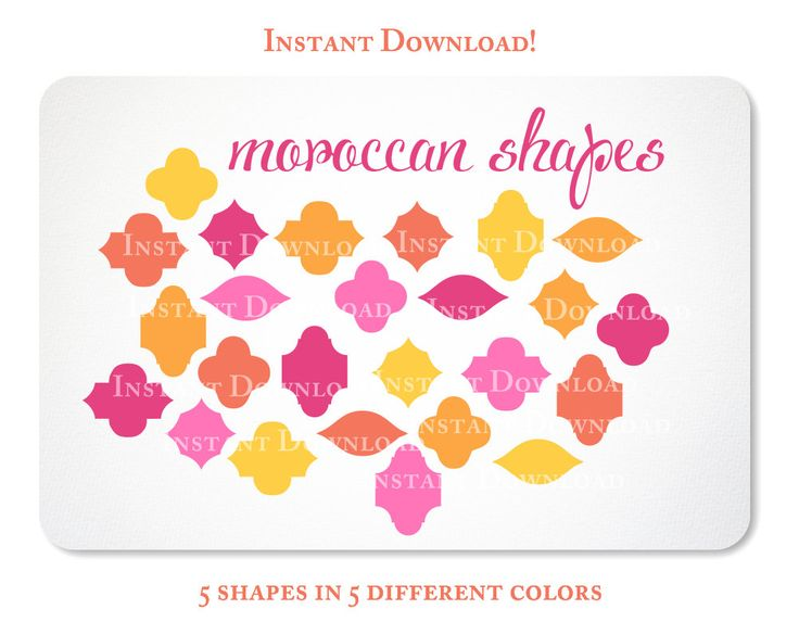 Shapes clipart moroccan #2
